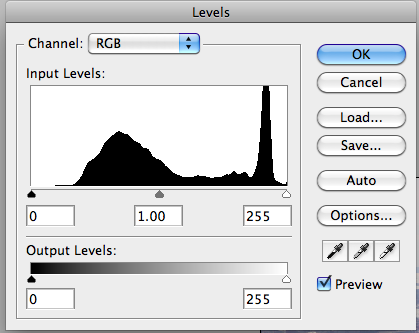 Level window with histogram