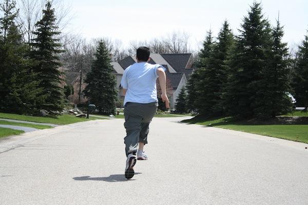 Running from camera