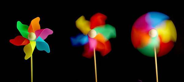 Effect of different shutter speeds on photograph