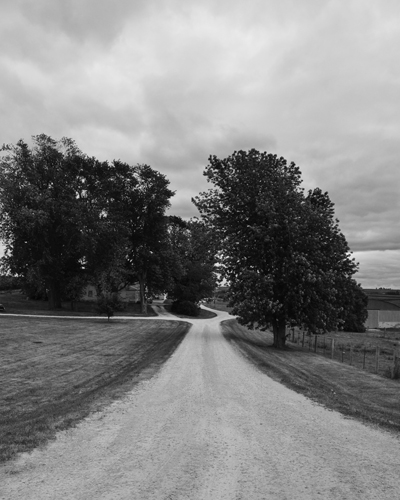 Farm Road in Wisconsin