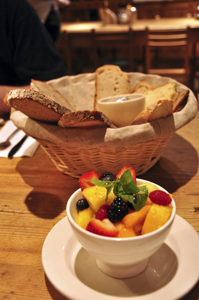 Fruit Bowl at Breakfast
