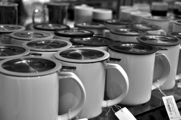 Row of Tea Mugs
