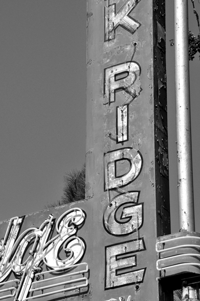Old Sign Straight On_Black and White