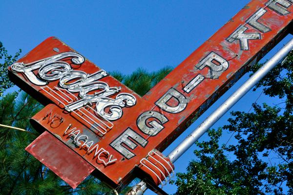 Old Sign at an Angle
