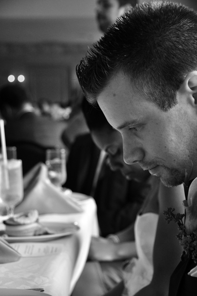 Prayer at Wedding Reception