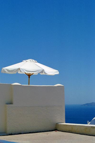Umbrella in Greece